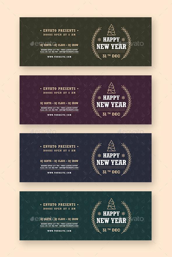 Happy New Year Web Sliders