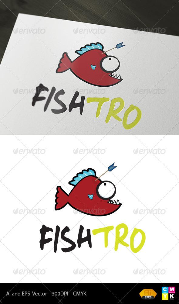 Fishtro Logo - Animals Logo Templates
