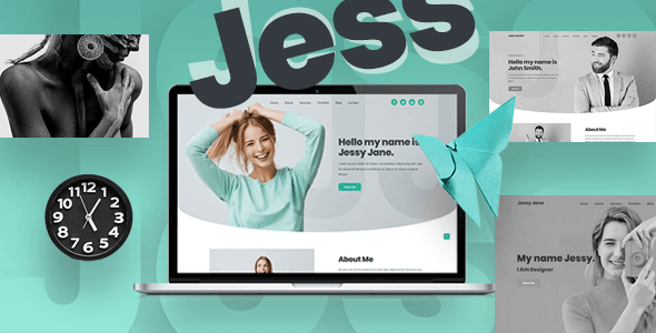 Jess – Personal, Portfolio, CV & Resume Website Template