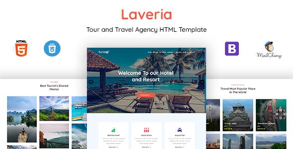 Laveria - Tour & Travel Agency Template