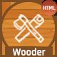 Wooder - Carpenter & Craftsman Business HTML Template + RTL