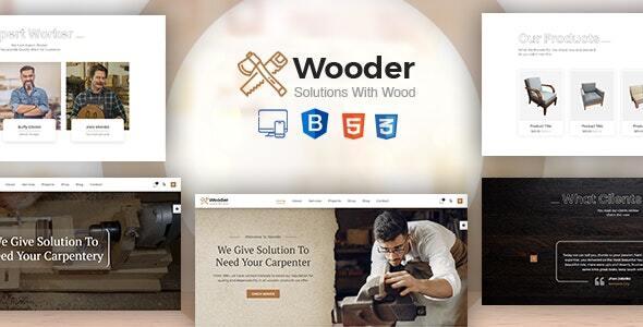 Wooder – Carpenter & Craftsman Business HTML Template + RTL