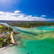 Drone aerial view of Erakor Island, Vanuatu, near Port Vila - PhotoDune Item for Sale