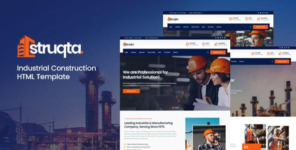 Struqta - Industrial & Construction HTML Template
