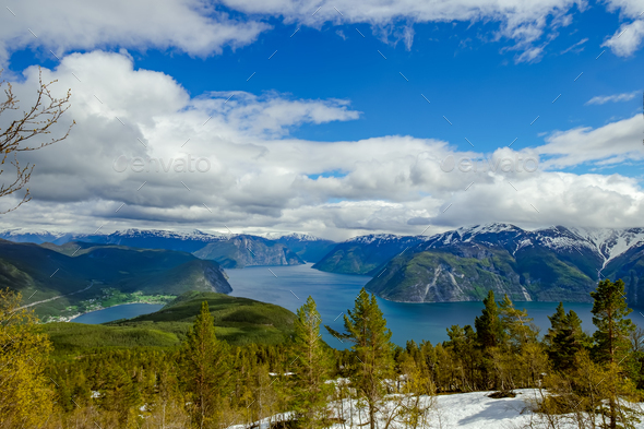 Beautiful Nature Norway natural landscape. - Stock Photo - Images