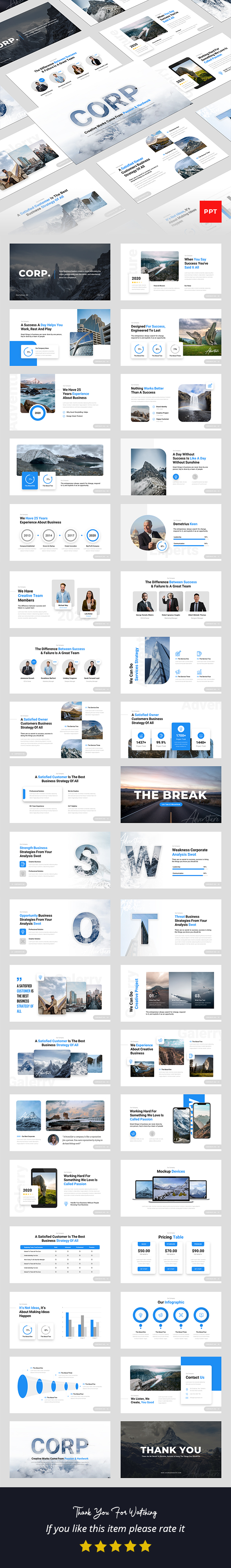 Corp - Creative Business PowerPoint Presentation Template