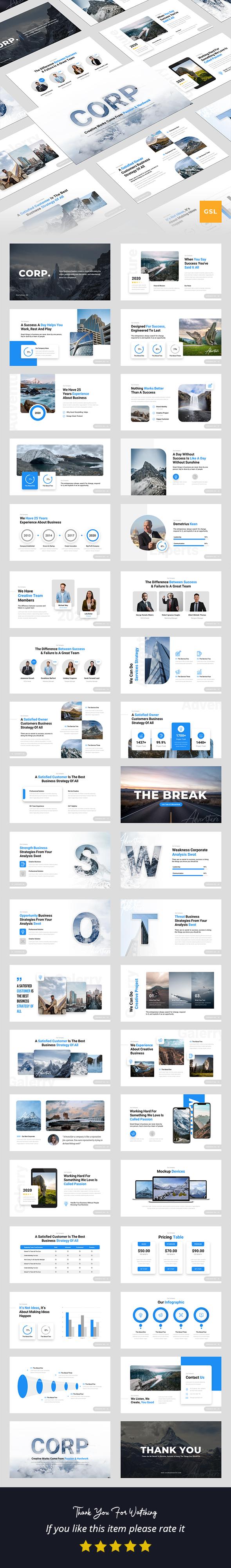 Corp - Creative Business Google Slides Presentation Template