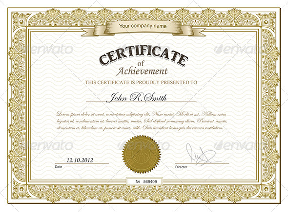 Gold detailed certificate - Retro Technology