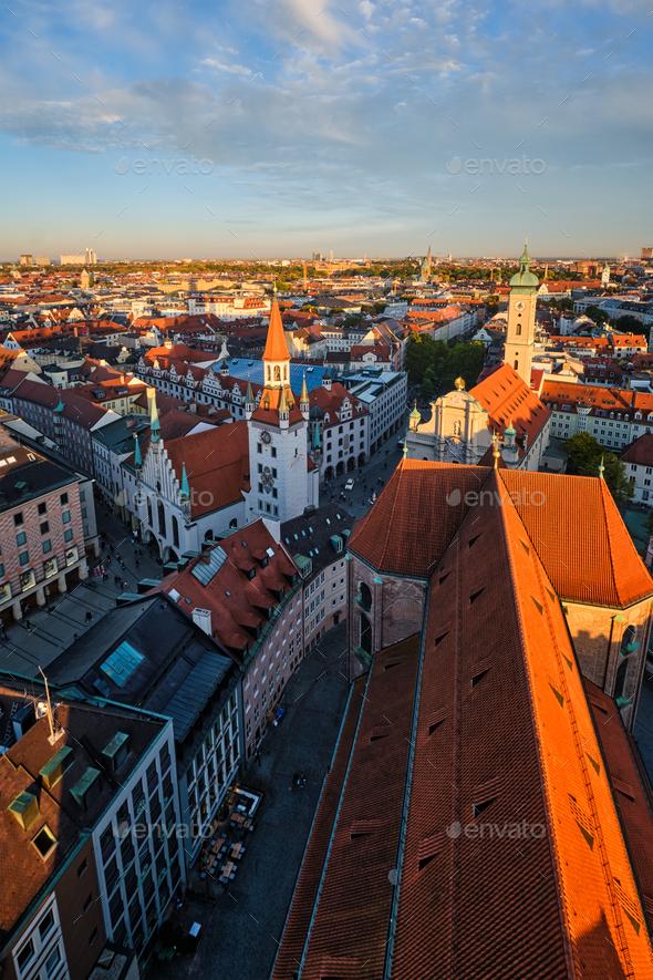 Aerial view of Munich - Stock Photo - Images
