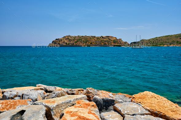 Island of Spinalonga, Crete, Greece - Stock Photo - Images