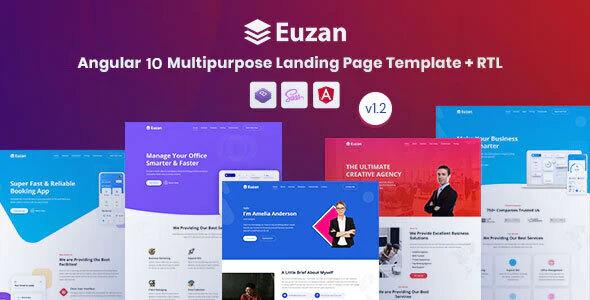 Euzan - Angular 10+ Multipurpose Landing Page Template