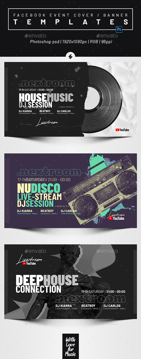 Live Streaming DJ Session – Facebook Event Cover Templates