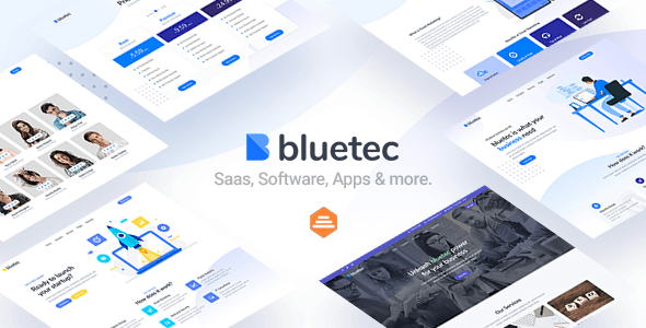 Bluetec – Saas, IT Software, Startup and Coworking Website Template