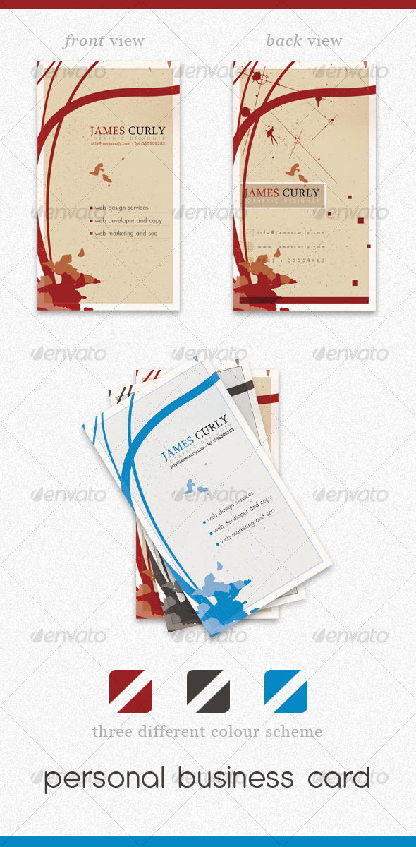 Personal Business Card PSD by Elegant-Creative | GraphicRiver
