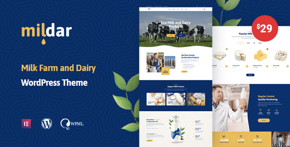 Mildar – Dairy Farm WordPress Theme