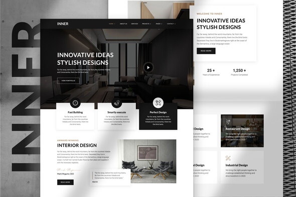 Inner – Interior Design & Architecture Template Kit