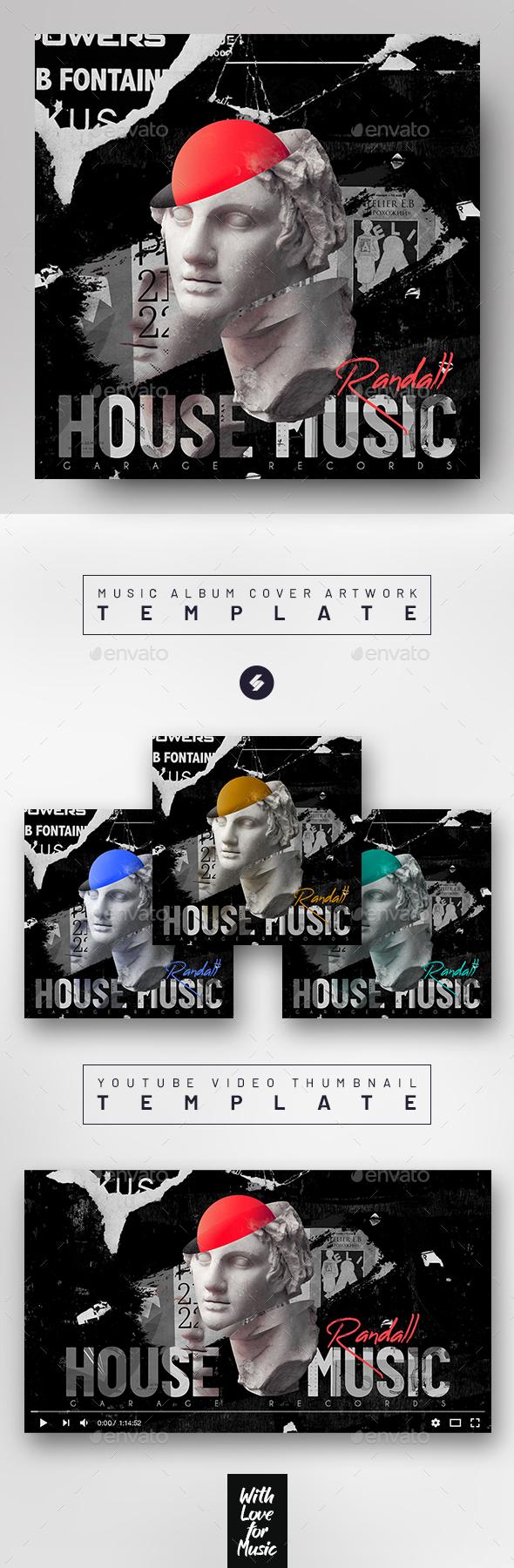 Garage House Music 05 – Album Cover Artwork Template