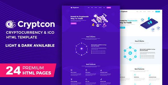 Cryptcon | ICO, Bitcoin And Crypto Currency HTML Template