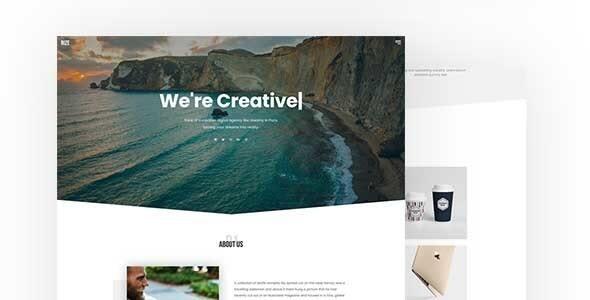Rize - One Page Portfolio Joomla Template