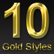 10 Different Gold Text Styles - GraphicRiver Item for Sale