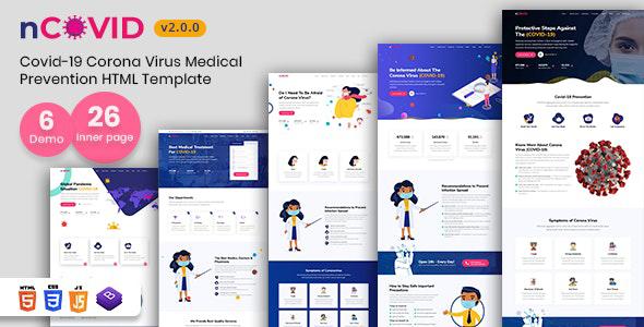 nCOVID - Coronavirus Medical Prevention HTML Template