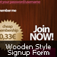 Wooden Style Signup - GraphicRiver Item for Sale