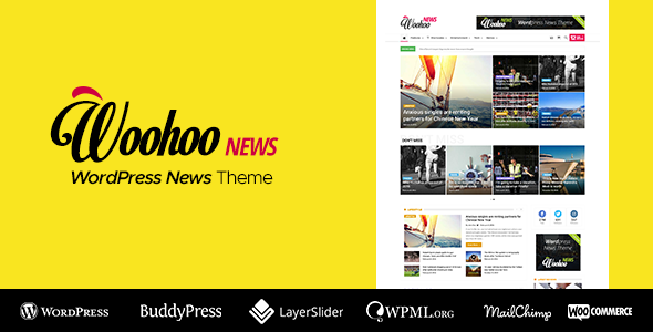 WooHoo - Newspaper Magazine News BuddyPress AMP