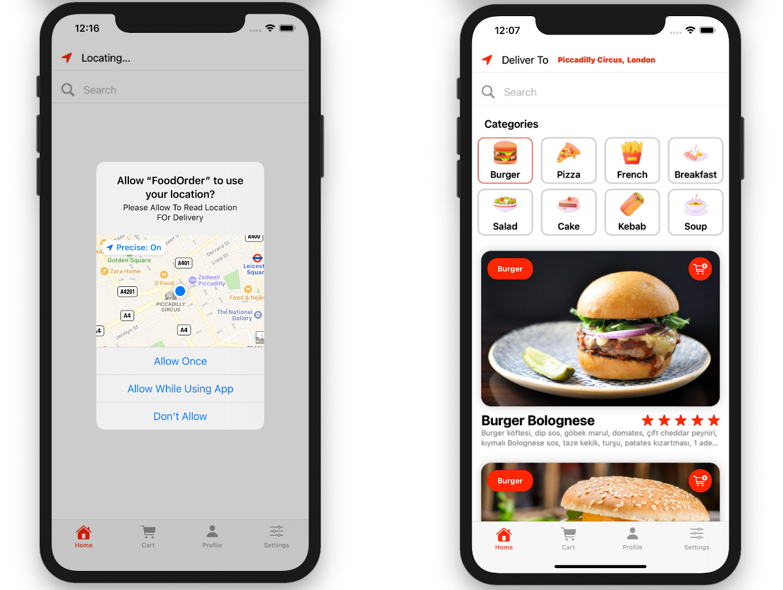 Food Order App   Full SwiftUI iOS Application - 1