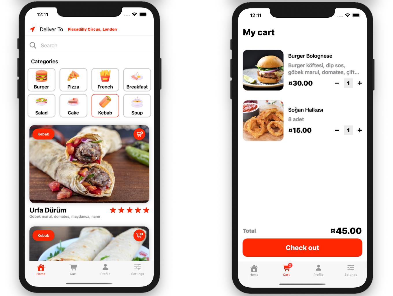 Food Order App   Full SwiftUI iOS Application - 2