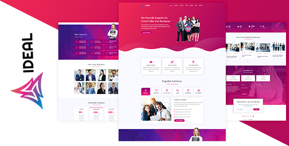 IDEAL – Business Landing Page