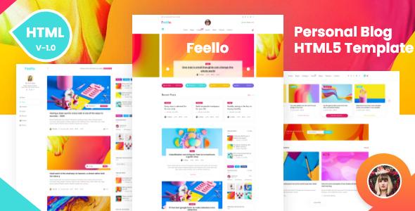 Feello | Personal Blogging HTML5 Template