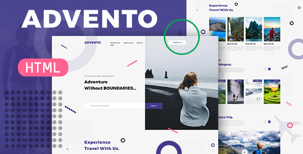 Advento - Travel One Page HTML