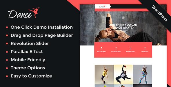 Special Dance Academy WordPress Theme