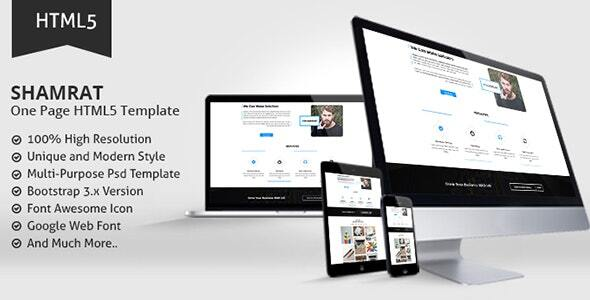 Awesome Shamrat One Page HTML5 Template