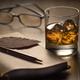 Backlit glass of whisky on the rocks - PhotoDune Item for Sale