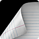 Ruled Notebook paper - 4 clips - VideoHive Item for Sale