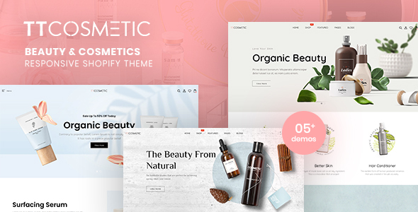 TTCosmetic – Beauty & Cosmetics Shop Responsive Shopify Theme