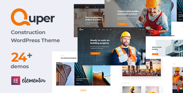 Incredible Quper | Construction and Architecture WordPress Theme