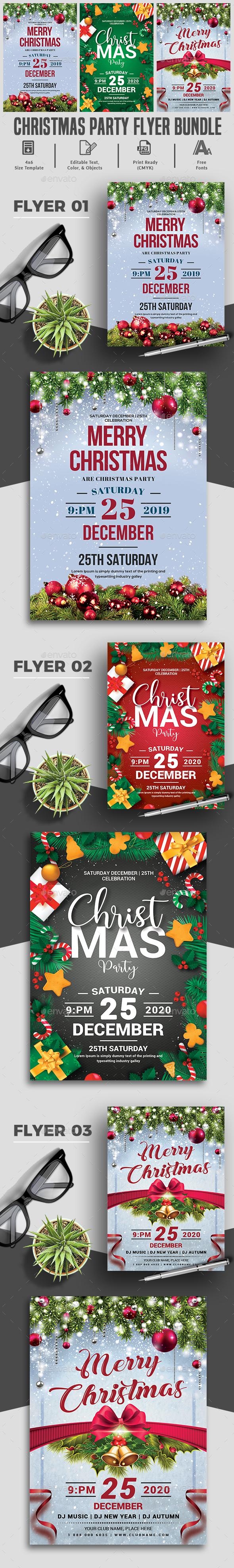 Christmas Party Flyers Bundle