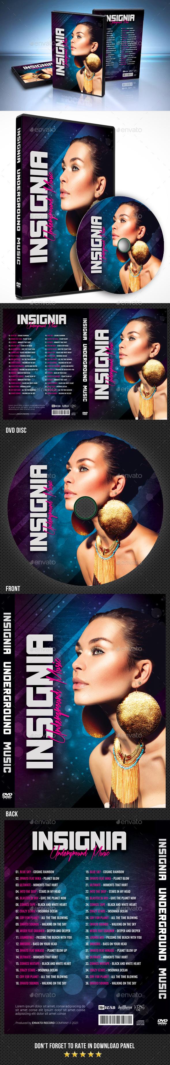 Insignia Underground Music DVD Cover Template