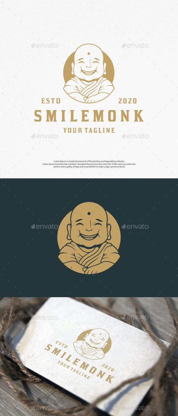 Smile Monk Vector Logo Template