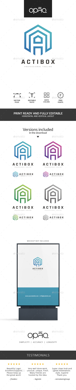 A Letter Cube Logo