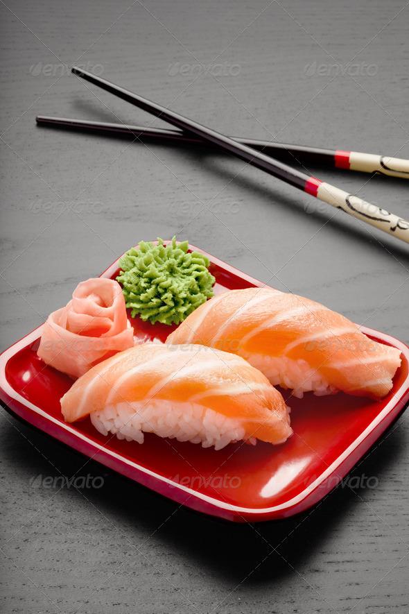 Yummy salmon. - Stock Photo - Images