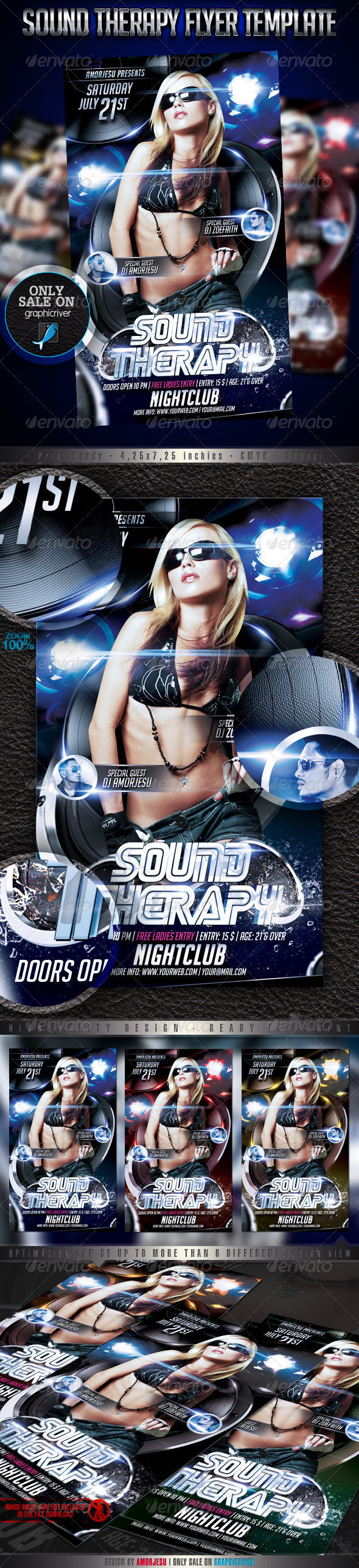 Sound Therapy Flyer Template - Events Flyers