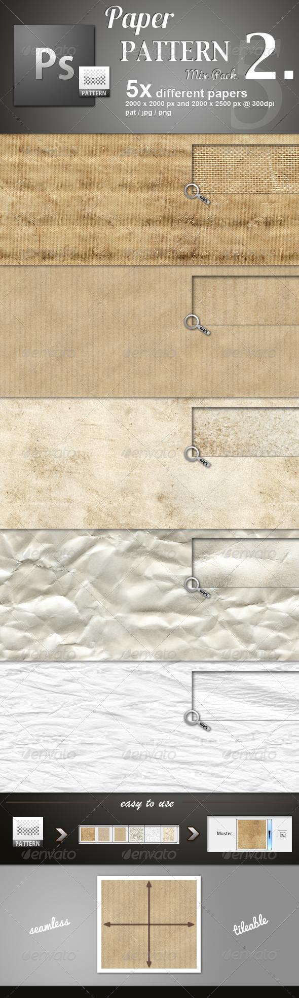 Paper Pattern MIX 2 - Miscellaneous Textures / Fills / Patterns
