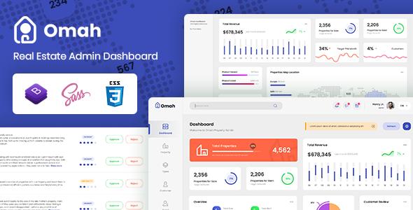 Omah - Real Estate Admin Dashboard Template