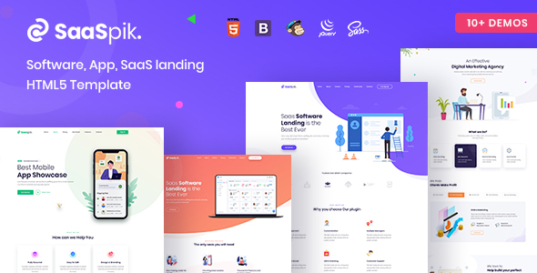 SaaSpik – App and SaaS landing HTML Template
