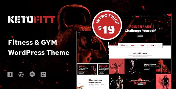 KetoFitt – Fitness & GYM WordPress Theme