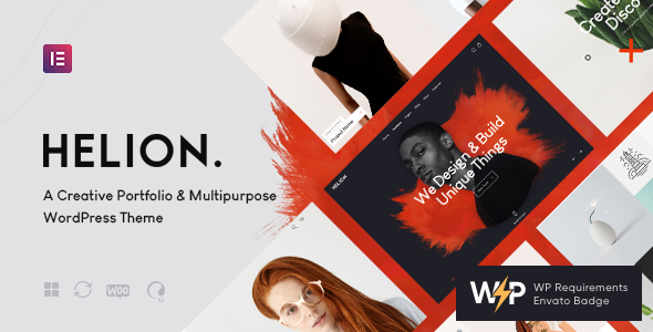 Helion   Personal Creative Portfolio WordPress Theme + Store