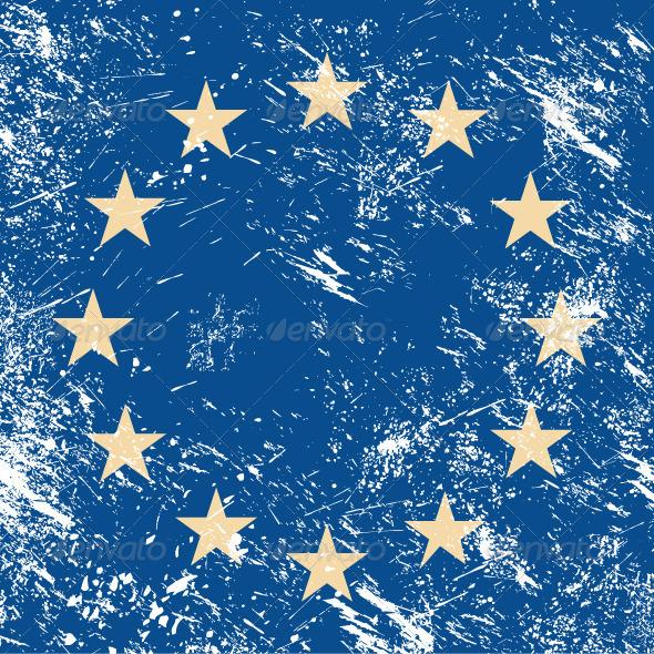 EU retro flag - Retro Technology